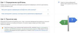 Запрос на удаление информации из результатов поиска Google